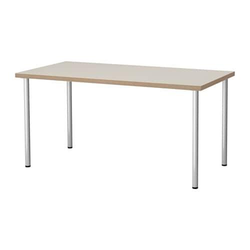 linnmon adils table beige gris argent ikea. Black Bedroom Furniture Sets. Home Design Ideas