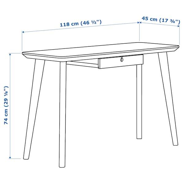 "LISABO Bureau, frêne plaqué, 46 1/2x17 3/4 """