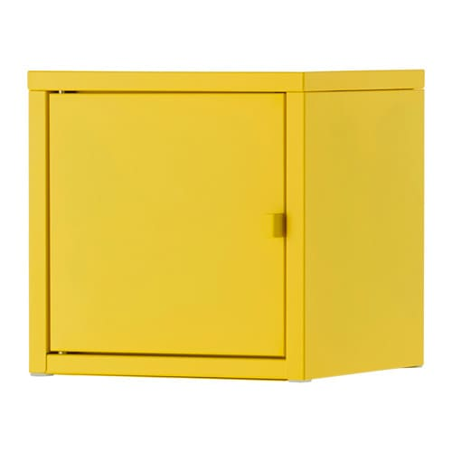 lixhult armoire m tal jaune ikea. Black Bedroom Furniture Sets. Home Design Ideas