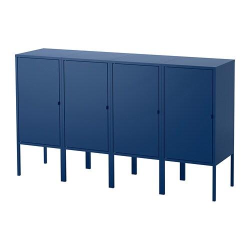 lixhult meuble de rangement bleu fonc ikea. Black Bedroom Furniture Sets. Home Design Ideas