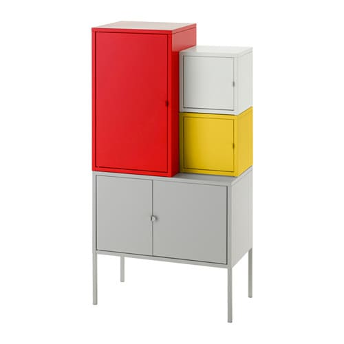 lixhult meuble de rangement rouge jaune gris blanc ikea. Black Bedroom Furniture Sets. Home Design Ideas
