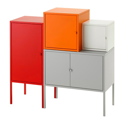 lixhult meuble de rangement gris blanc orange rouge ikea. Black Bedroom Furniture Sets. Home Design Ideas