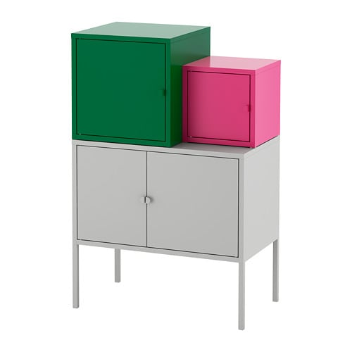 lixhult meuble de rangement gris vert fonc rose ikea. Black Bedroom Furniture Sets. Home Design Ideas