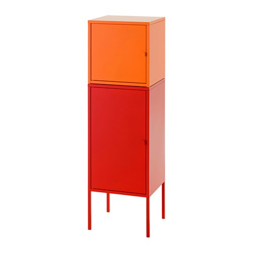 lixhult meuble de rangement rouge orange ikea. Black Bedroom Furniture Sets. Home Design Ideas