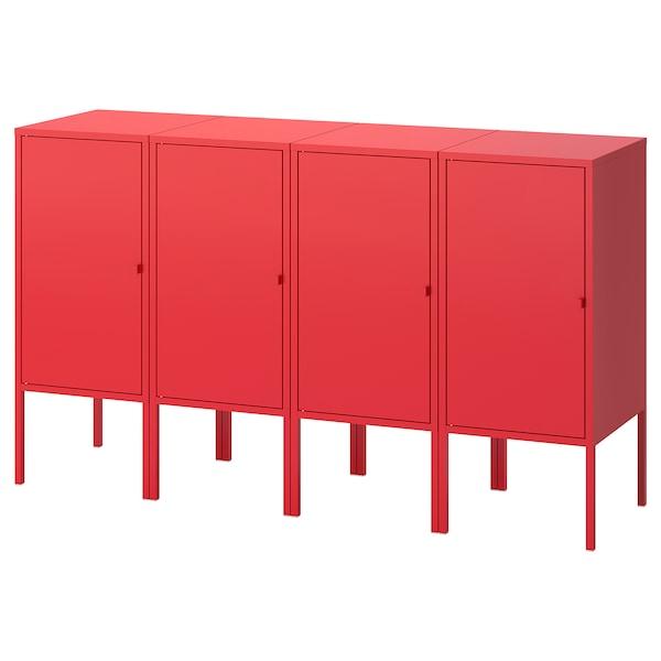 """LIXHULT Meuble de rangement, rouge, 55 1/8x13 3/4x32 1/4 """""""