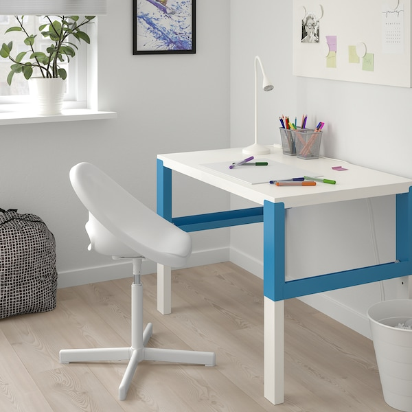 LOBERGET / SIBBEN Chaise de bureau enfant, blanc