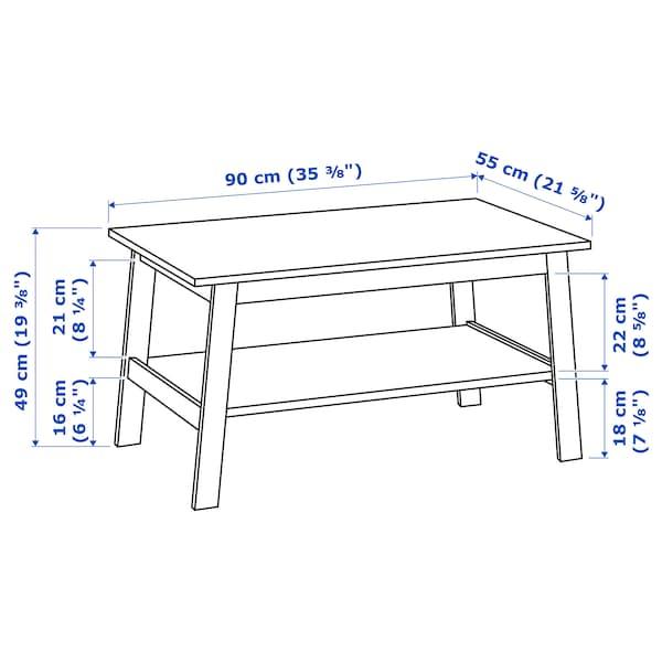 "LUNNARP Table basse, blanc, 35 3/8x21 5/8 """