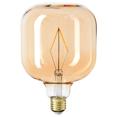LUNNOM Ampoule à DEL E26 80 lumens, tubulaire verre clair brun