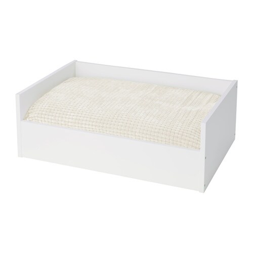 lurvig lit chat chien avec coussin blanc blanc ikea. Black Bedroom Furniture Sets. Home Design Ideas
