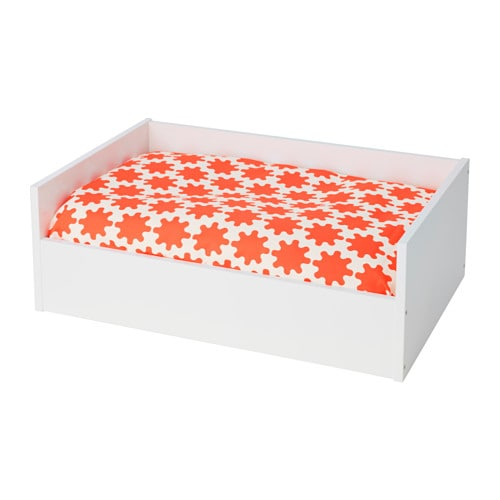 lurvig lit chat chien avec coussin blanc orange blanc ikea. Black Bedroom Furniture Sets. Home Design Ideas