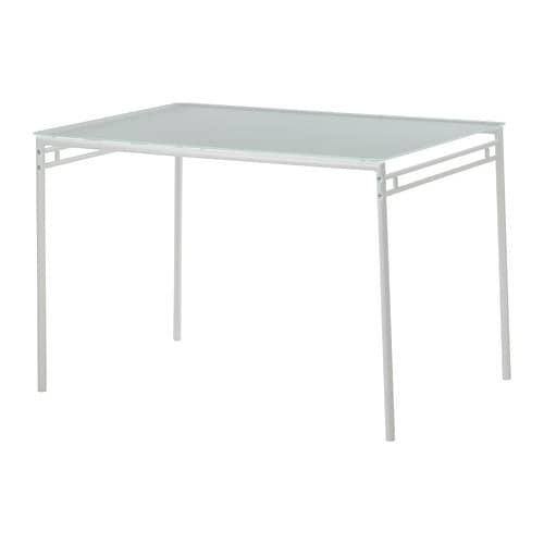 LYRESTAD Table   Plateau en verre trempé; surface facile à nettoyer.