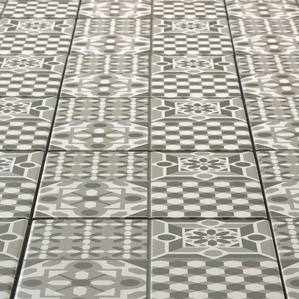 MÄLLSTEN Caillebotis, gris/blanc, 9 pied carré