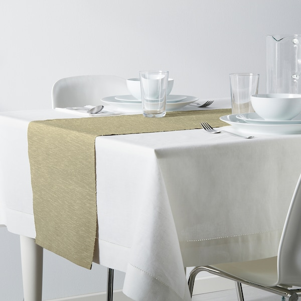 MÄRIT Chemin de table, beige, 14x51 ""
