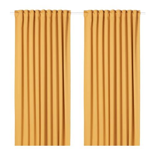 Majgull Rideaux Opaques 2 Panneaux Ikea