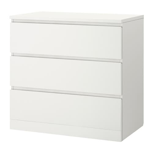 malm commode 3 tiroirs blanc ikea. Black Bedroom Furniture Sets. Home Design Ideas