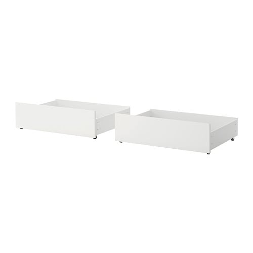 malm rangement pour lit haut blanc 2 places 1place ikea. Black Bedroom Furniture Sets. Home Design Ideas