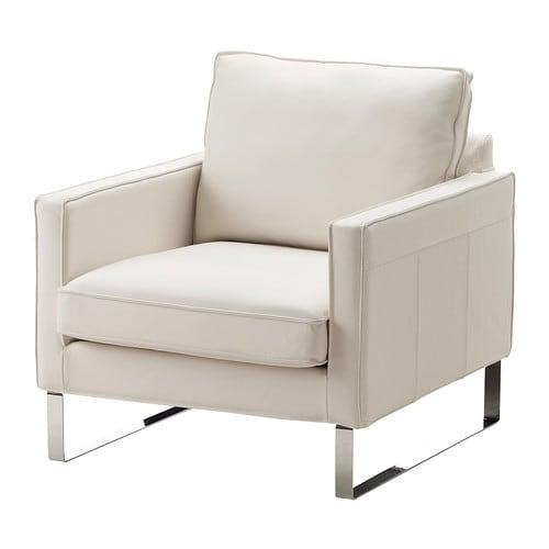 Mellby fauteuil grann blanc ikea - Entretien fauteuil cuir ...