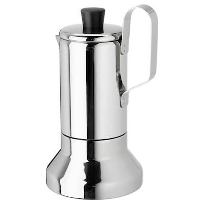 METALLISK Cafetière expresso pr table cuisson, acier inox, 13.5 oz