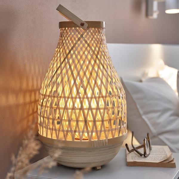 """MISTERHULT Lampe de table, bambou/fait main, 14 """""""