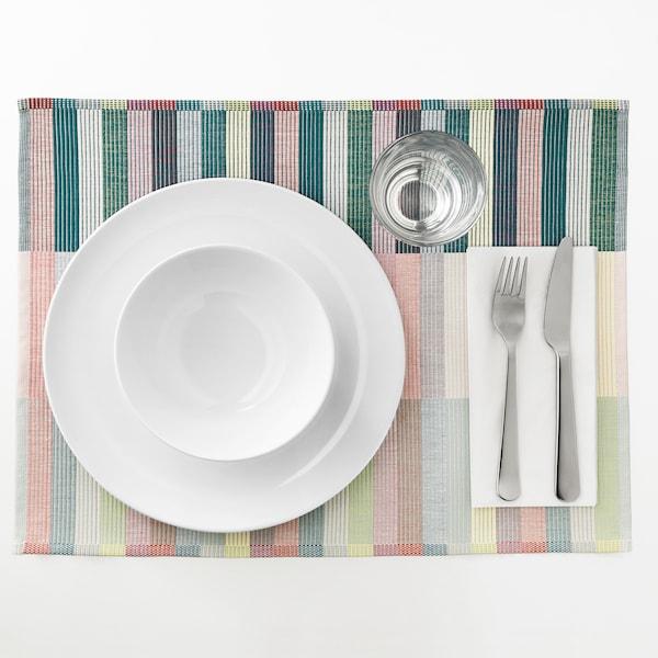 "MITTBIT Napperon, rose turquoise/vert clair, 18x14 """