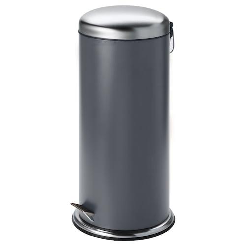 """MJÖSA poubelle à pédale gris foncé 26 ¾ """" 13 ¼ """" 8 gallon"""
