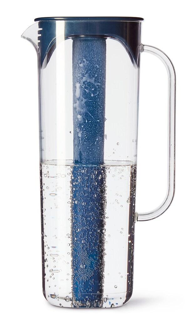 MOPPA Pichet avec couvercle, bleu foncé/translucide, 57 oz