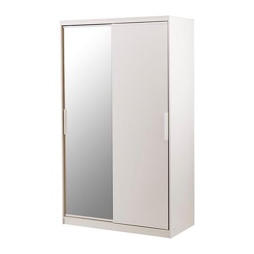 Morvik armoire penderie blanc miroir ikea for Armoire de toilette miroir ikea