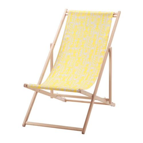 mysings chaise de plage jaune ikea. Black Bedroom Furniture Sets. Home Design Ideas