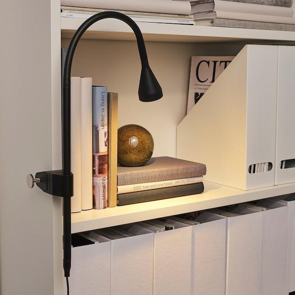 NÄVLINGE Spot applique/à pince à DEL, noir