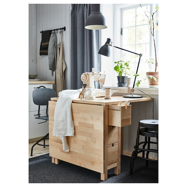 Norden Table A Abattants Bouleau Ikea