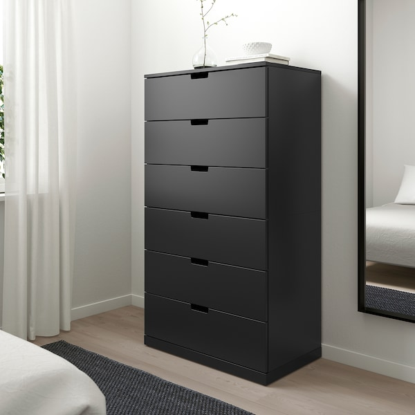 NORDLI Commode à 6 tiroirs, anthracite, 31 1/2x57 1/8 ""