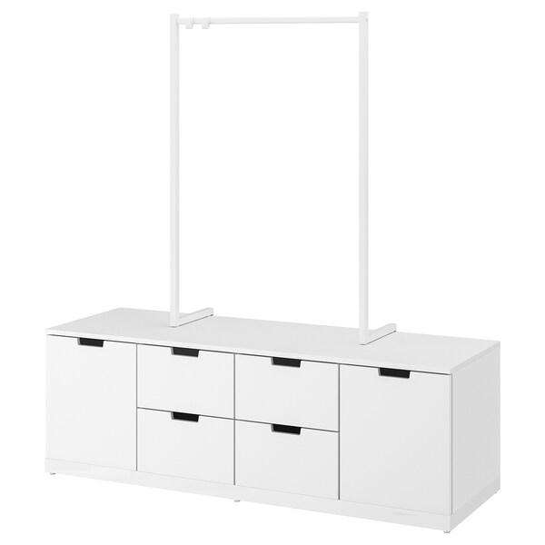 """NORDLI Commode à 6 tiroirs, blanc, 63x66 1/2 """""""