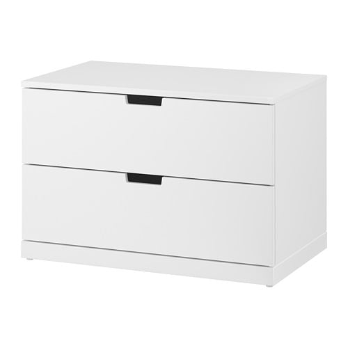 nordli commode 2 tiroirs blanc ikea. Black Bedroom Furniture Sets. Home Design Ideas