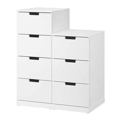 nordli commode 7 tiroirs blanc ikea. Black Bedroom Furniture Sets. Home Design Ideas
