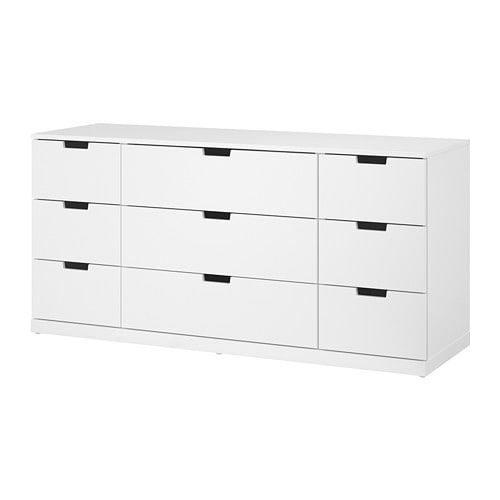 nordli commode 9 tiroirs blanc ikea. Black Bedroom Furniture Sets. Home Design Ideas