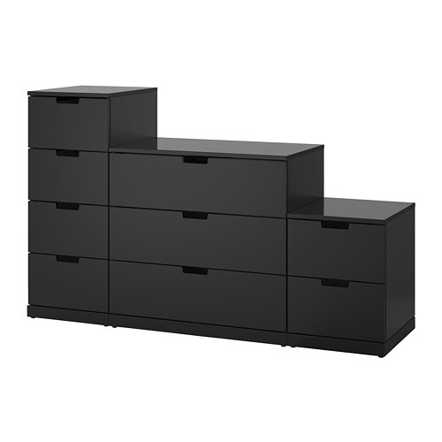 nordli commode 9 tiroirs anthracite ikea. Black Bedroom Furniture Sets. Home Design Ideas
