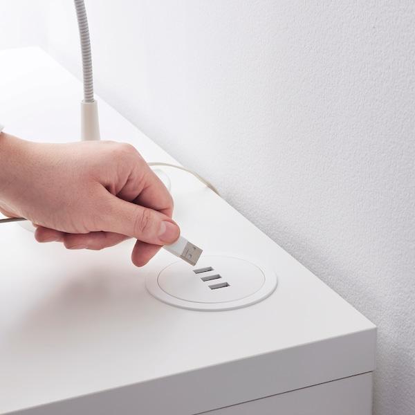 NORDMÄRKE Chargeur USB, blanc/liège