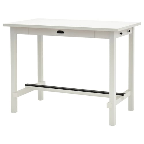 "NORDVIKEN table haute blanc 55 1/8 "" 31 1/2 "" 41 3/8 """