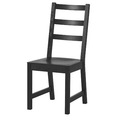 """NORDVIKEN chaise noir 243 lb 17 3/8 """" 21 1/4 """" 38 1/4 """" 17 3/8 """" 14 1/8 """" 17 3/4 """""""