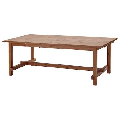 "NORDVIKEN Table à rallonge, teint anc, 82 5/8/113 3/4x41 3/8 """