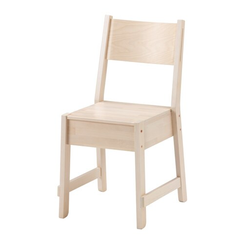 NORRÅKER Chaise, blanc bouleau