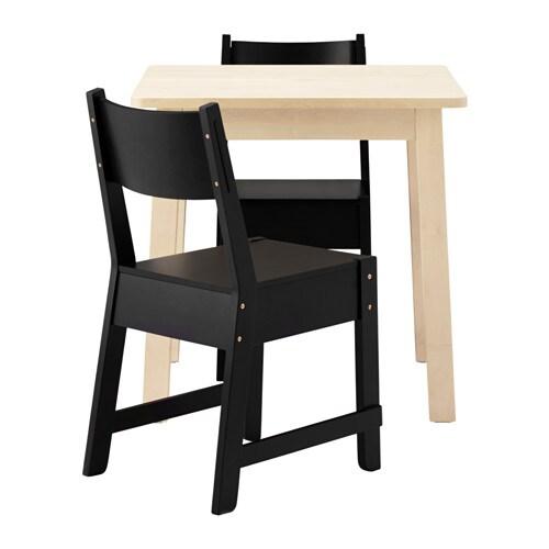 norr ker norr ker table et 2 chaises ikea. Black Bedroom Furniture Sets. Home Design Ideas