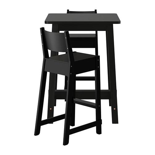 norr ker norr ker table haute 2 tabourets bar ikea. Black Bedroom Furniture Sets. Home Design Ideas