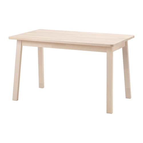 NORRÅKER Table, blanc bouleau