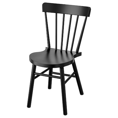 "NORRARYD chaise noir 243 lb 18 1/2 "" 20 1/8 "" 32 5/8 "" 15 "" 16 1/8 "" 17 3/4 """