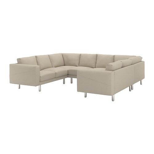 norsborg canap 8 places en u edum beige m tal ikea. Black Bedroom Furniture Sets. Home Design Ideas