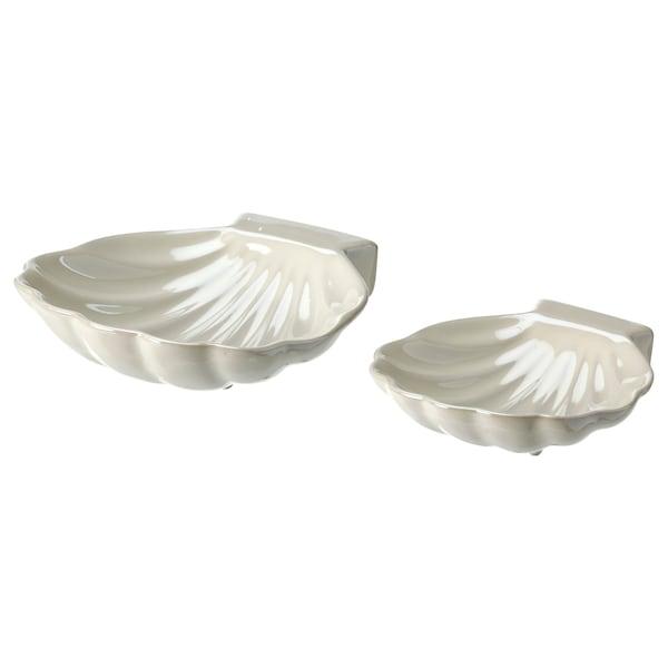NYFÅNGAD Décoration, 2 pièces, coquillage blanc