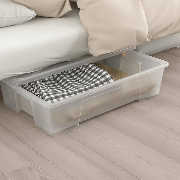 NYHAMN Canapé-lit, avec matelas à ressorts ensachés/Skiftebo jaune