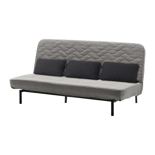 nyhamn canap lit trois coussins avec matelas en mousse knisa gris beige ikea. Black Bedroom Furniture Sets. Home Design Ideas