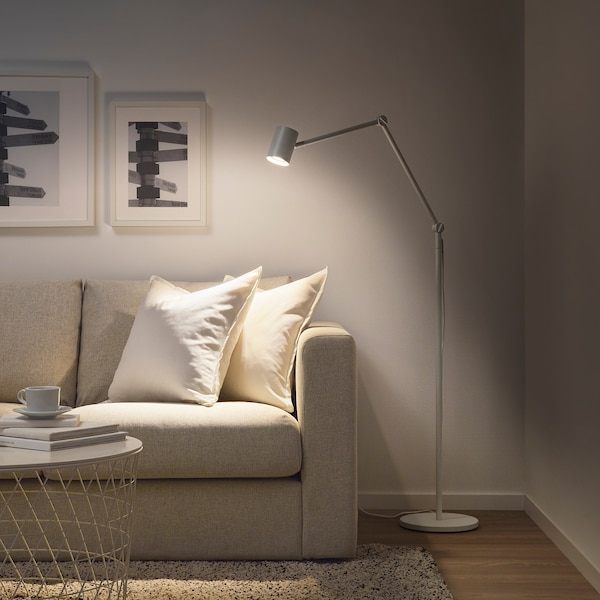 NYMÅNE Lampadaire/liseuse, blanc